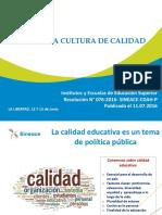 1 Presentación de Cultura de Calidad y Estrategias de Apoyo