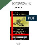 Anais - VI Cultura & Memória UFPE 2013.pdf