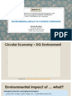 Environmental Impact of Synthetic Detergents