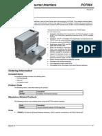 Po7094 (Modbus Tcp Ethernet Interface)