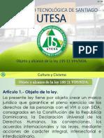 Objeto y Alcance de La Ley 135-11 VIH-SIDA.
