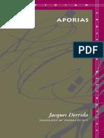 Derrida, Jacques - Aporias (Stanford, 1993)