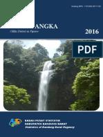 Kecamatan Cililin Dalam Angka 2016