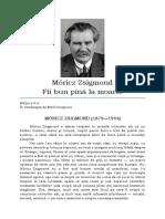 Fii bun pînă la moarte - Moritz Zsigmond
