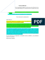 Modelo de Carta Al Director