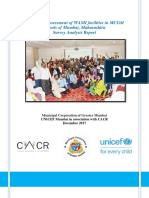 Assessment of WASH Facilities in MCGM Schools- WASH in Schools by CACR-UNICEF