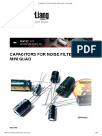 Capacitors for Noise Filtering in Mini Quad - Oscar Liang