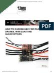 How to Choose ESC for Racing Drones, Mini Quad and Quadcopters - Oscar Liang