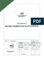 366 PR CAÑ 01 REV 0 Prueba Hidrostatica de Cañerias