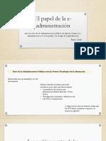 PP. Caty- El Papel de La E-Administración (2)