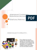 Aprendizaje Cooperativo Estrategias Grupales