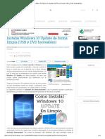 Instalar Windows 10 Update de Forma Limpia (USB y DVD Booteables)