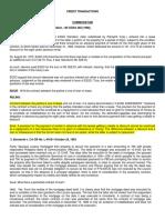 CREDIT TRACNSACTIONS Case Compilation Batch 1