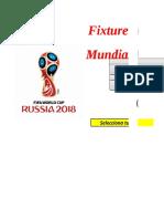Rusia 2018 - Fix Excel