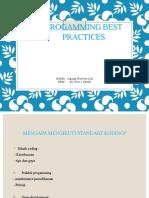 Agung Prasetyo Adi (06.2016.1.06640) Progamming Best Practices
