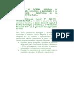 Declaran de Interés Regional La Zonificación Ecológica y Económica y El Ordenamiento Territorial en El