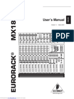 Behringer mx1804x manual