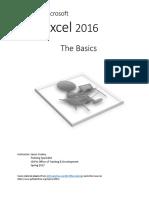 Excel 2016 Manual