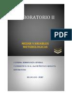 Medicion de Variables Metereologicas