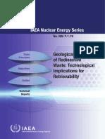 Geological Disposal of Radioactive Waste