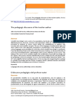 Ferreira & Oliveira - The pedagogic discourse of the teacher‐author