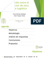 Relación Entre El Director de Obra y La Logística