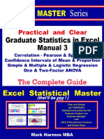 Graduate Statistics in Excel Manual 3 S