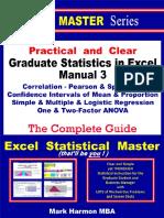 Graduate Statistics in Excel Manual 3 S