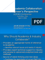 UCEAO Conference Industry-Academia Collaboration 04082009 Jms