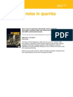 Control of Noise in Quarries