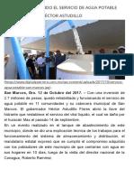 12-10-2017 Quedó Restablecido El Servicio de Agua Potable en San Marcos_ Héctor Astudillo