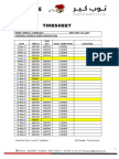 Word Timesheet