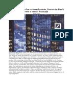 In India's $210 bn stressed assets, Deutsche Bank sees a credit bonanza