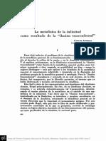 ASTRADA, C. - La metafísica de la infinitud como resultado de la ilusión trascendental.pdf