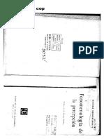 Merleay Ponty, M. - CAPÍTULO III de la SEGUNDA PARTE en Fenomenología de la percepción.pdf