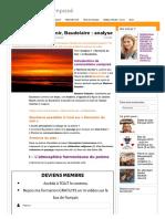 Harmonie Du Soir, Baudelaire _ Analyse _ Commentaire Composé