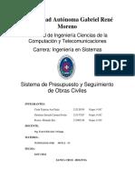 Sistema Para Presupuestos y Control de Obras Civiles