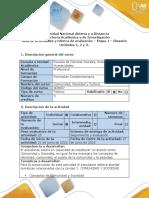 Guía de Actividades y Rúbrica de Evaluación - Etapa 1 - Elaborar Glosario