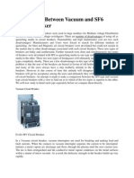 Comparison Between Vacuum and SF6 Circuit Breaker
