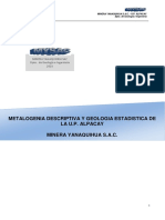 Metalogenia Descriptiva y Geologia Estadistica de UP Alpacay 2015