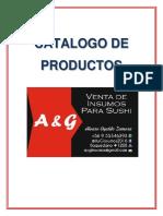 Catalogo a&g Insumos