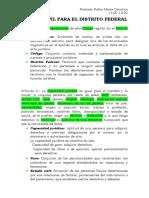 Siglario artículos 1-21 Código civil DF