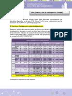 Taller Costos y Plan de Contingencias - Act. 2Und