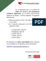 Cartel Informativo Pruebas Acceso