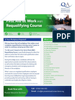 QA Centre Marketing - First Aid at Work Requalifying Flyer