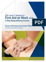 QA Lesson Plan L3 First Aid at Work RQF Requalifying - Including Catastrophic Bleeding