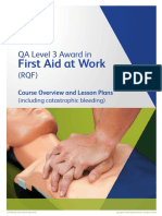 QA Lesson Plan L3 First Aid at Work RQF - Including Catastrophic Bleeding