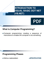 TOPIC 1-Introduction to VB.net