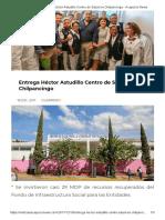 18-12-2017 Entrega Héctor Astudillo Centro de Salud en Chilpancingo.