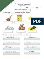 Evaluacion Consonantes m y l s p